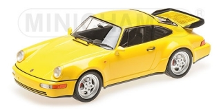 Porsche 911 Turbo (964) 1990 yellow 1:18 Minichamps
