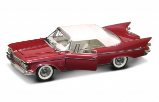 Chrysler Imperial closed convertible 1961 red/white 1:18 Lucky Diecast