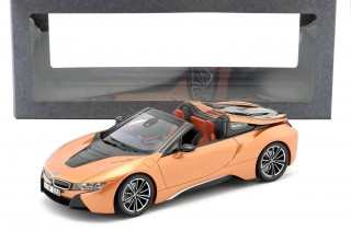 BMW i8 Roadster 2018 copper metallic/black 1:18 Minichamps