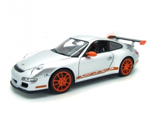Porsche 911 (997) GT3 RS silver 1:18 Welly
