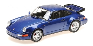 Porsche 911 Turbo (964) 1990 blue metallic 1:18 Minichamps