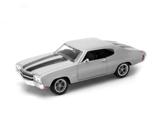 Chevrolet Chevelle SS454 1970 silver 1:18 Welly