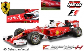 Ferrari SF16-H F1 S.Vettel #5 Ray Ban version 2016 1:18 Bburago