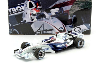 BMW Clean C24B R.Kubica F1 Test Barcelona 2006 1:18 Minichamps
