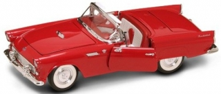 Ford Thunderbird with closed top 1955 red 1:18 Lucky Diecast