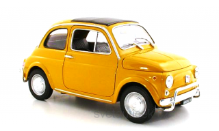 Fiat 500 1957 yellow 1:18 Welly