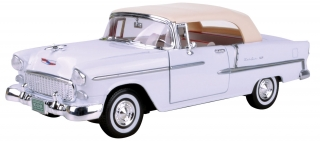 Chevrolet Bel Air convertible 1955 white 1:18 Motor Max