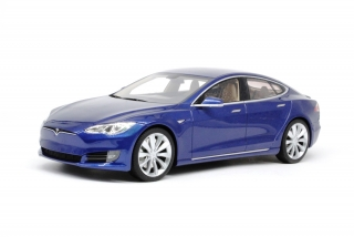 Tesla Model S 2016 blue 1:18 LS Collectibles