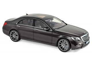 Mercedes-Benz S-Class AMG-Line 2018 Ruby Black metallic 1:18 Norev