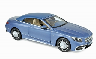 Mercedes-Maybach S650 Cabriolet 2018 blue metallic 1:18 Norev