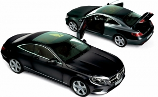 Mercedes Benz S Coupe 2014 black 1:18 Norev