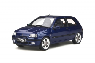 Renault Clio 16v Ph.2 1995 Monaco Blue 1:18 OttOmobile