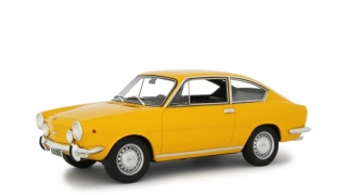 Fiat 850 Sport Coupe 1968 yellow 1:18 Laudoracing Model