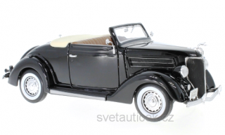Ford De Luxe Convertible 1936 black 1:18 Welly