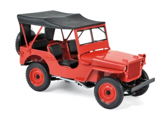 Jeep 1942 red 1:18 Norev