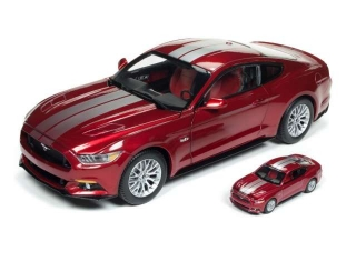 Ford Mustang GT 1/18 & 1/64 2017 red 1:18 Autoworld