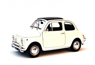 Fiat 500 1957 white 1:18 Welly