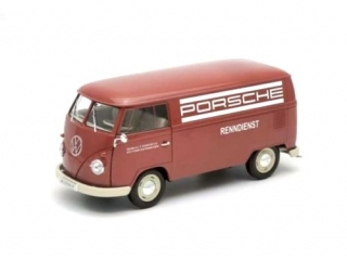 Volkswagen T1 Bus Panel Van *Porsche Renndienst*1963 red/white 1:18 Welly