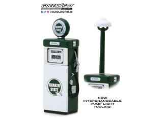 Wayne 505 Gas Pump *Quaker State* with Pump Light 1951 1:18 GreenLight