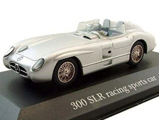 Mercedes Benz 300SLR Roadster N 0 Racing 1955 silver 1:43 Altaya