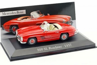 Mercedes Benz 300SL Roadster Spider (W198) 1957 red 1:43 Altaya