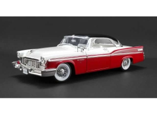 Chrysler New Yorker St. Regis 1956 regimental red/cloud white/raven black 1:18 Acme Diecast