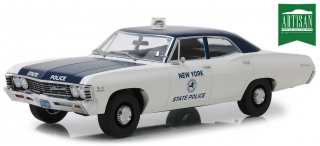 Chevrolet Biscayne *New York State Police* 1967 white/blue 1:18 Greenlight