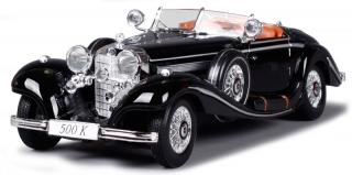 Mercedes-Benz 500 K Convertible 1936 black 1:18 Maisto