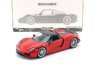 Porsche 918 Spyder Weissach Package 2015 red 1:18 Minichamps