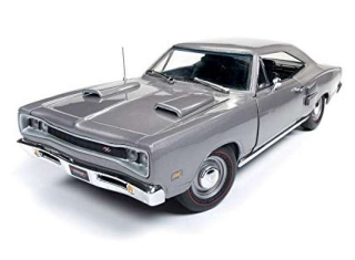 Dodge Coronet R/T 1969 silver 1:18 Auto World