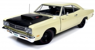 Plymouth Road Runner Coupe Ltd Ed 1969 yellow 1:18 Auto World