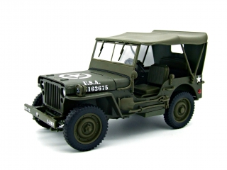 Jeep Willys US ARMY 1/4 Truck green 1:18 Welly