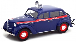 Moskwitsch 400 Police with Speaker 1946 dark blue 1:18 KK Scale