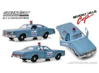 Plymouth Fury Detroit Police *Beverly Hills Cop 1984* 1977 blue/white 1:18 Greenlight