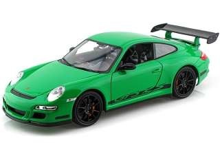 Porsche 911 (997) GT3 RS green 1:18 Welly