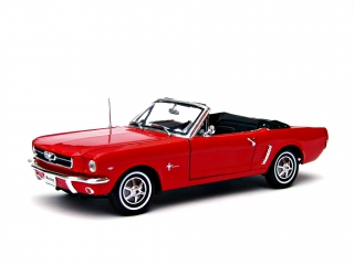 Ford Mustang Cabrio 1964 1/2 red 1:18 Welly
