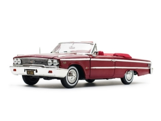 Ford Galaxie 500 Open Convertible 1963 chestnut 1:18 Sun Star