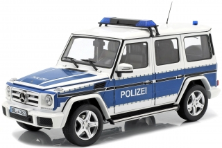 Mercedes-Benz G-Classe *Police* 2015 blue, white 1:18 iScale