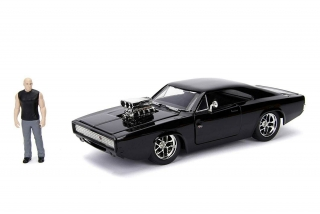 Doms Dodge Charger & Toretto Figur Fast & Furious 7 1:24 Jada Toys