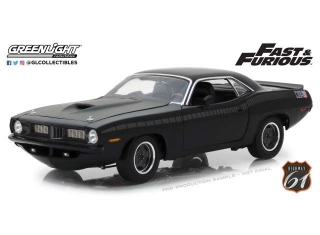 Plymouth Barracude Fast & the Furious 7 black 1:18 Highway 61