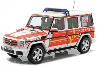 Mercedes-Benz G-Classe *Emergency* 2015 red, white 1:18 iScale