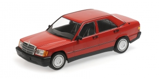 Mercedes-Benz 190E W201 1982 red 1:18 Minichamps