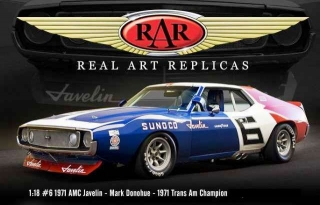AMC Javelin Mark Donahue #6 1971 red/white/ blue 1:18 Acme Diecast