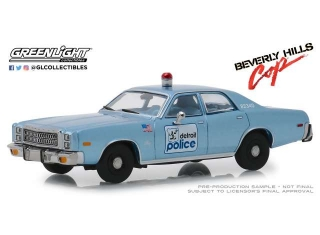 Plymouth Fury Detroit Police *Beverly Hills Cop* 1977 1:43 Greenlight