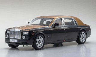 Rolls Royce Phantom Extended Wheelbase 2015 diamond black/gold 1:18 Kyosho
