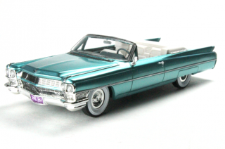 Cadillac Coupe De Ville Cabriolet Open 1964 aquamarine green 1:43 Goldvarg Collection