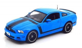 Ford Mustang Boss 302 Year 2013 blue/black 1:18 Shelby Collectibles