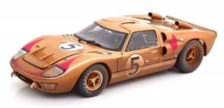 Ford GT40 MK II #5 Bucknum/Hutcherson 3rd 24h LeMans 1966 Dirty Version 1:18 Shelby Collectibles