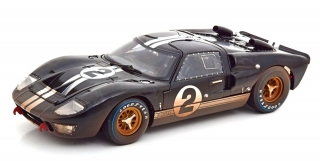 Ford GT40 MK II #2 McLaren/Amon Winner 24h LeMans 1966 Dirty Version 1:18 Shelby Collectibles