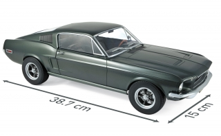 Ford Mustang Fastback 1968 satin green metallic 1:12 Norev